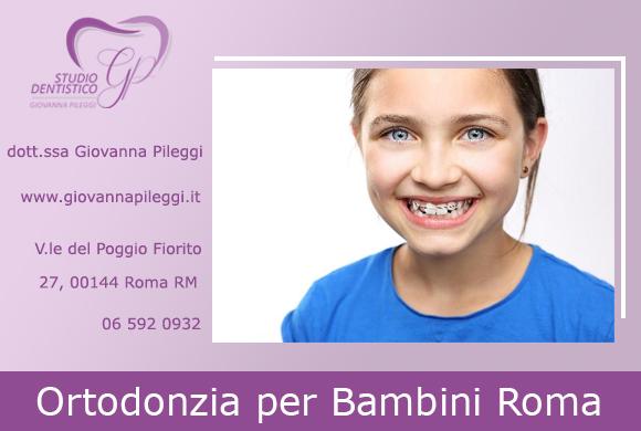 ortodonzia per bambini roma eur viale del poggio fiorito 27 bambina sorridente