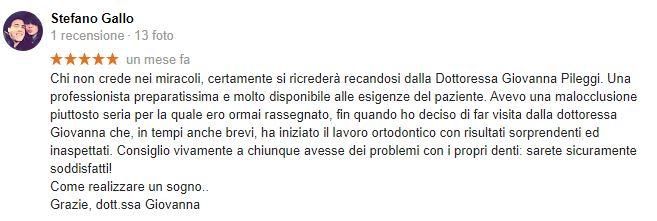 stefano gallo recensione dentista per bambini roma giovanna pileggi
